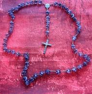 Vintage Rosary Beads Crucifix Pearl Chain Religious Catholic Christian Religion Chapelet Origin France Chapelet Perles C - Godsdienst & Esoterisme