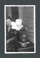 Photo Ancienne Portrait Romantique Romantic FEMME WOMAN FRAU Très Belle Fleur Blanche White Flower - Fotos
