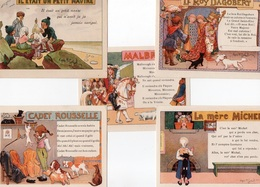 96Hs  Lot De 5 Cartes Publicitaires Ricqlés Comptines Chansons - Publicidad