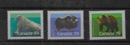 Serie De Canadá Nº Yvert 1080/82 ** FAUNA (ANIMALS) - 1952-.... Reinado De Elizabeth II