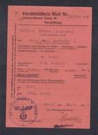 Guerre 39-45 Ausweis Laissez Passer Ouest  Pierre Mathieu Ingenieur De Dijon à Toul Nancy Prefecture Aveyron 1942 - 1939-45