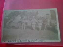 PHOTO MEKNES 1925 CHARS ET SOLDATS - Guerra, Militari