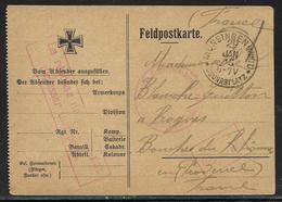 Guerre 14/18 : CP De Franchise Militaire Allemande Utilisée Par Prisonnier Français. Tàd Munsingen 29.1.1915 - Cartes De Franchise Militaire