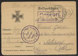 Guerre 14/18 : CP De Franchise Militaire Allemande Utilisée Par Prisonnier Français. Tàd Du Camp D'Hammelburg 14.1.1915 - Cartes De Franchise Militaire