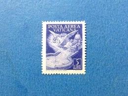 1947 VATICANO POSTA AEREA 5 FRANCOBOLLO NUOVO STAMP NEW MNH** - Posta Aerea