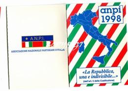 """TESSERA_TESSERE_DOCUMENTO/I-""""ANPI 1998"""" ORIGINALE 100%- - Vecchi Documenti"""