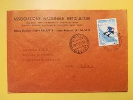1970 BUSTA INTESTATA  ITALIA ITALY  ASSOCIAZIONE BIETICULTORI BOLLO CAMPIONATO DI SCI ANNULLO MACERATA - 1961-70: Storia Postale