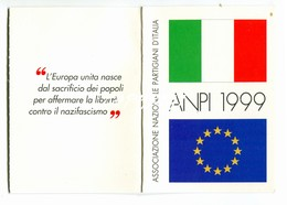 """TESSERA_TESSERE_DOCUMENTO/I-""""ANPI 1999"""" ORIGINALE 100%- - Vecchi Documenti"""