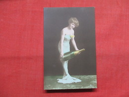 RPPC    Color--Female With Bottle Of Champagne   Ref 3501 - Fashion