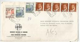 GIRONA  CC CERTIFICADA SELLOS BASICA ARQUITECTURA LLIVIA - 1981-90 Cartas