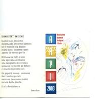 """TESSERA_TESSERE_DOCUMENTO/I-""""ANPI 2003"""" ORIGINALE 100%- - Vecchi Documenti"""