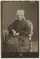 Cabinet 1890-1900 Ch. Herbert à Beauvais . Femme âgée Avec Coiffe . - Photos