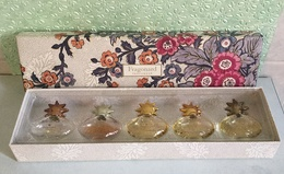 """Coffret 5 Miniatures  """"FRAGONARD""""  Parfum Et Eau De Parfum 7 Ml X 5 - Modern Miniatures (from 1961)"""