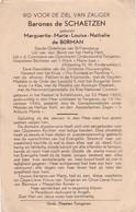 Adel, Barones De Schaetsen, Marguerite De Borman, Kasteel Te Schalkhoven, Tongeren,1946 - Images Religieuses