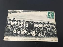 645 - A La Frontiere Franco Italienne - Bersagliers Et Chasseurs Alpins - 1908 Timbrée - Manoeuvres