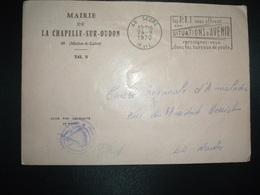 LETTRE MAIRIE LA CHAPELLE SUR OUDON OBL.MEC.24-9 1970 49 SEGRE M. ET L. (MAINE ET LOIRE) - Non Classificati