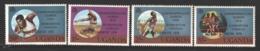 Ouganda - Uganda 1979 Yvert 180-83, Overprinted Games Commonwealth Edmonton Canada - MNH - Uganda (1962-...)