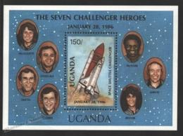 Ouganda - Uganda 1987 Yvert BF 70, Space Shuttle Challenger - Miniature Sheet - MNH - Uganda (1962-...)