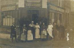 HAUTS DE SEINE  COLOMBES  (carte Photo)  Rue De Seine  CAFE DE L'USINE - Colombes