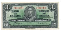 CANADA $1 Dollar Bank Note 1937  Coyne-Towers , XF. - Canada