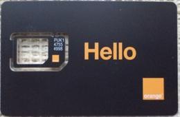 "Egypt GSM Card Orange ""FRAME ONLY NO SIM""  (Egypte) (Egitto) (Ägypten) (Egipto) (Egypten) - Egypte"