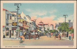 Bay Street, Nassau, Bahamas, 1936 - Curt Teich Postcard - Bahamas
