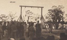 LIBANON BEYROUTH Exécution  Une Pendaison OLD PHOTO POSTCARD RARE!!! - Libanon