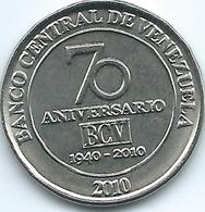 Venezuela - 50 Céntimos - 2010 - 70th Anniversary Of The Central Bank - KMY100 - Venezuela