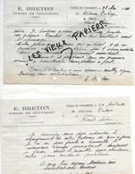 88 - Vosges - THUNIMONT - Facture BRETON - Forges - 1930 - REF 121B - Frankrijk