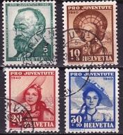Switzerland / Schweiz / Suisse : 1940 Pro Juventute : G. Keller / Trachten Michel 373 / 376 - Pro Juventute