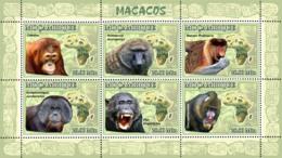 Mozambique 2007 Fauna Apes,monkey ,chimpanzee ,mandrill - Mozambique