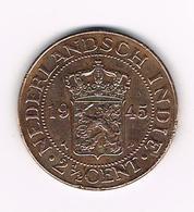 //   INDONESIE  2 1/2  CENTS 1945 P - Indonesia
