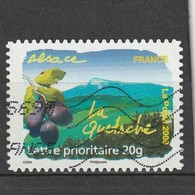 France Adhésif Oblitéré  2009  N° 291  Flore Des Régions.  La Quetsche (Alsace) - France