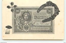 N°8848 - Carte Representation De Monnaie - Billet De Banque - Zwanzig - Coins (pictures)