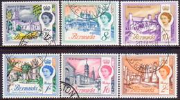 BERMUDA 1966 SG 195-200 Compl.set Used Wmk Sideways - Bermuda