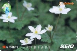 FLEUR - FLOWER - Carte Prépayée Japon - Fleurs