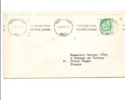 FINLANDE OBLITERATION MECANIQUE SUR  LETTRE POUR LA FRANCE 1977 - Lettres & Documents