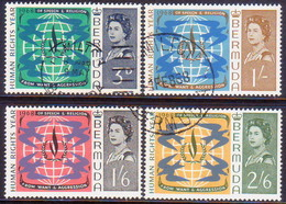 BERMUDA 1968 SG 212-15 Compl.set Used Human Rights Year - Bermuda