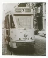Photographie Tram N° 7042 Ligne Porte De Namur/Boistsfort 1965 Photo Vintage Picture Foto Reproduction Tramway STIB 134 - Repro's