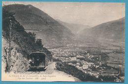 LUCHON-SUPERBAGNERES - Le Chemin De Fer à Crémaillère De Superbagnères - Vue Sur Luchon - Circulé 1916 - Luchon