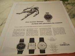 ANCIENNE PUBLICITE PIONNIERS DU COSMOS MONTRE OMEGA 1966 - Jewels & Clocks