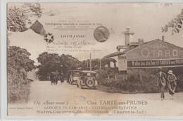 Saint-Georges-de-Didonne  17   Chez Tartes Aux Prunes_Medaille D'Or Et Palmes A Mr RAUX Ernest-Animée Et Voitures - Saint-Georges-de-Didonne