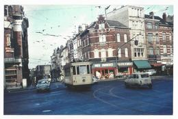 Photographie Tram N°1006 Ligne 16 STIB 1966 Photo Reproduction Vintage Picture Foto Tramway Tram Bruxelles 120 - Reproductions