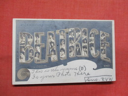 RPPC Rotograph  BEATRICE   Females In Letters    Ref 3503 - Firstnames