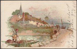 Punting On The River, 1903 - Woolstone Bros Postcard - Künstlerkarten