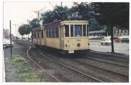 Photographie Tram N°1064 Ligne 32 STIB Reproduction Photo 1971 Vintage Picture Foto Tramway Tram Bruxelles 108 - Repro's