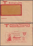 Germany - Jnliegend Telegramm (C 187b Din 476) Reklame, Rheingold, KIEL. Spezial Fusspflege-Abteilung. - Germania