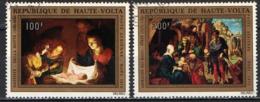 ALTO VOLTA - 1972 - NATALE: OPERA D'ARTE - NAIVITA' DI DELLA NOTTE E ADORAZIONE DEI MAGI DI DURER - USATI - Alto Volta (1958-1984)