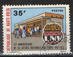 ALTO VOLTA - 1972 - LOTTERIA NAZIONALE - EMBLEMA - USATO - Alto Volta (1958-1984)