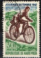 ALTO VOLTA - 1967 - POSTINO IN BICICLETTA - GIORNATA DEL FRANCOBOLLO - USATO - Alto Volta (1958-1984)